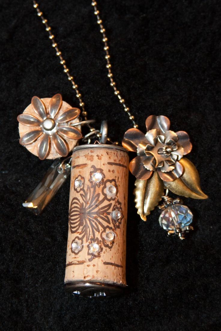 Pin by debbie macklin on wine cork craft ideas pinterest for Cork necklace ideas