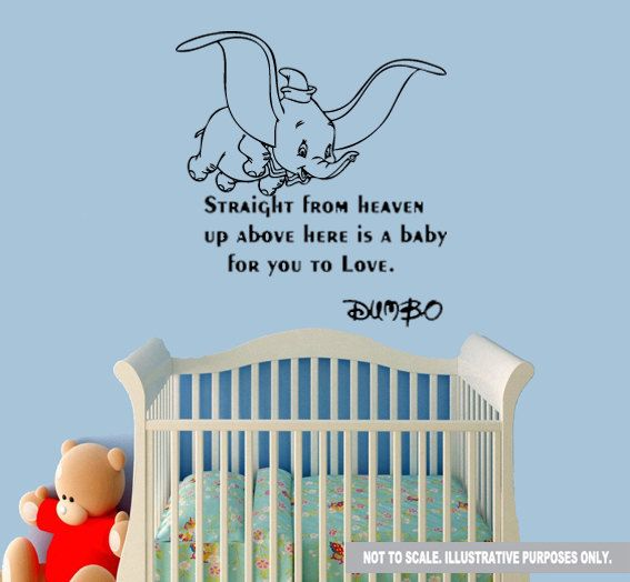 dumbo wall quote decal sticker dumbo nursery wall decals quotes quotesgram