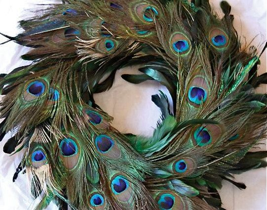 57 dollar 18 quot summer peacock feather wreath removable ribbon large