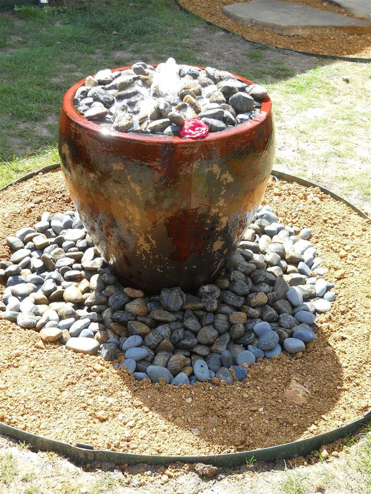 Diy water feature garden fire water lite pinterest Home made water feature