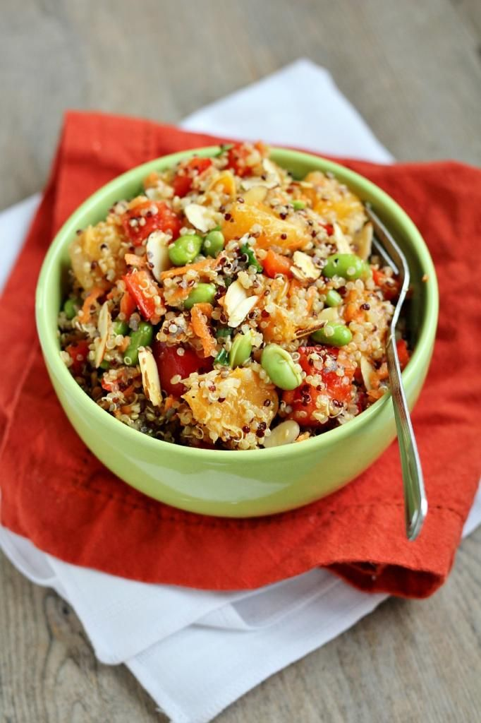 Sesame Mandarin Quinoa Salad Recipe — Dishmaps