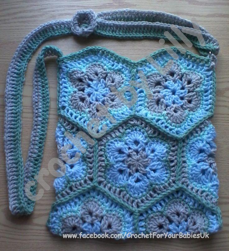 African Flower crochet bag Haken Pinterest