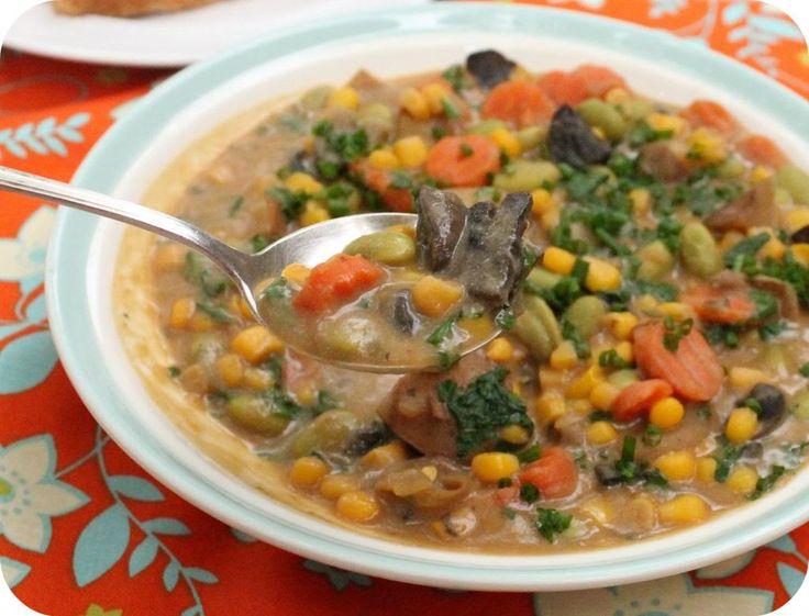 Slow Cooker Vegetable Chowder - | Soups | Pinterest