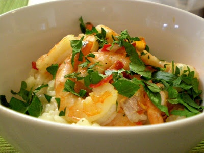 bear necessities: Citrus Risotto with Garlic Chilli Prawns