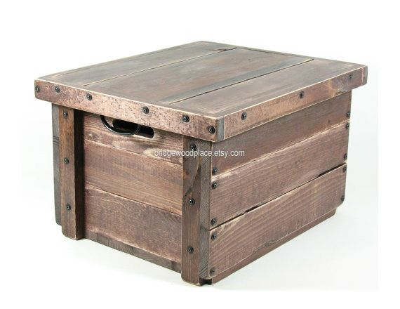 Wood table crate rustic wooden box wood crate furniture reversible se Wooden crates furniture