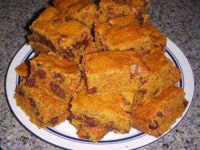 Pumpkin chocolate chip bars | Pumpkin Palooza | Pinterest