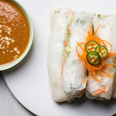 Vietnamese-Style Summer Rolls with Peanut Sauce Recipe