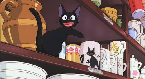 """""""It's Me!"""" - Jiji from Kiki's Delivery Service by Hayao Miyazaki"""