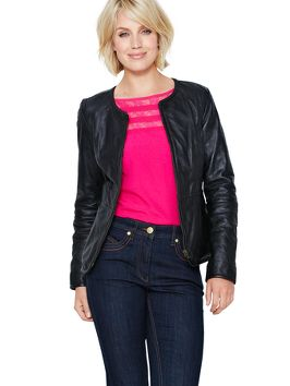 Savoir Peplum Leather Jacket