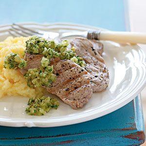 Grilled Pork Tenderloin with Salsa Verde | Recipe