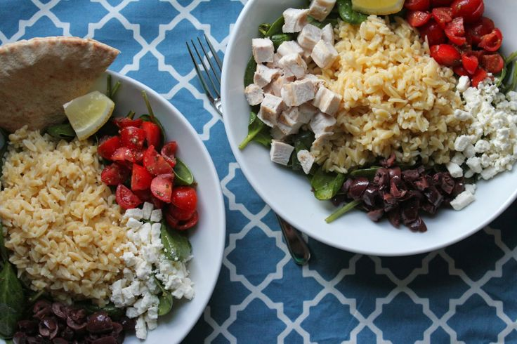 Greek Chicken And Orzo Bowls | Recipe