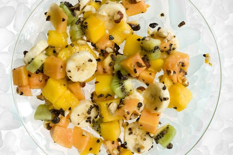 Tropical Fruit Salad with Cacao Nibs | Food - Salads | Pinterest