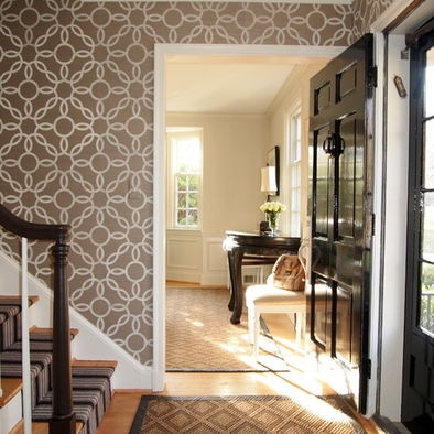 Bold neutral wallpaper in hallway love the look but do i really