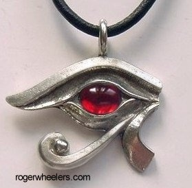 drop eye of ra necklace