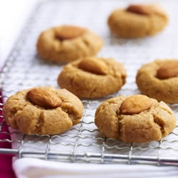 Almond Butter Cookies Allrecipes.com - subs: all ww flour, flax meal ...