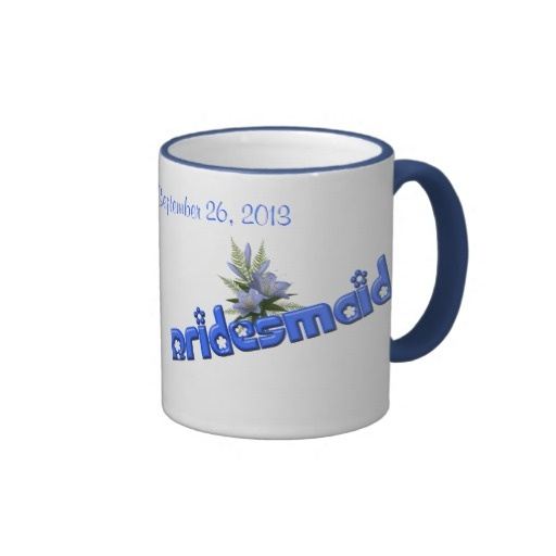 Customized Wedding Coffee Mugs : ... this instead of jewelry? Bridesmaid Personalized Wedding Coffee Mug