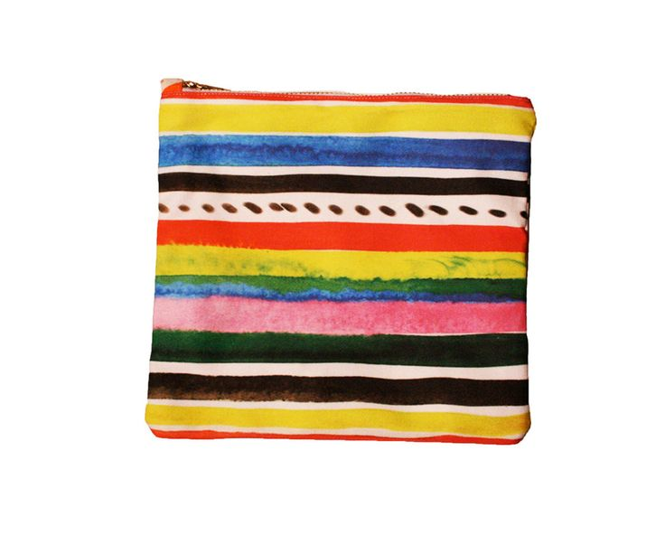 striped zipper pouch. | objects. | Pinterest
