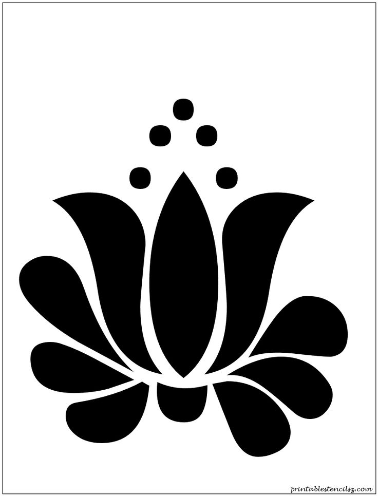 The gallery for --> Lotus Stencil