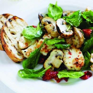 Greek-style Mushrooms with Haloumi | tastyness | Pinterest