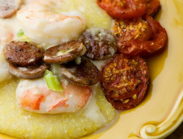 Shrimp and Andouille Sausage with Grits | Recipe