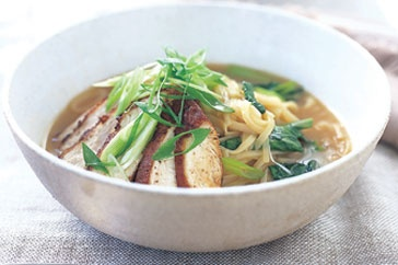 Five-spice chicken and noodle broth | Grub - Soups | Pinterest