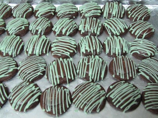 chocolate mint truffle cookies | Grandma Mint | Pinterest