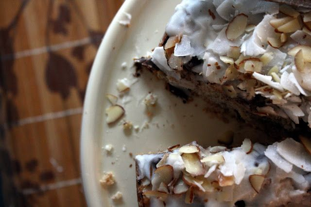 Coconut Cake With Chocolate Chunks And Coconut Drizzle ...