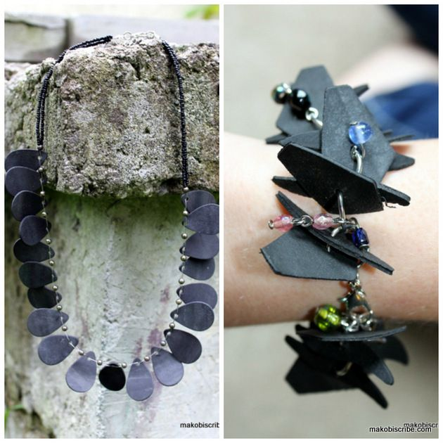 Cool jewelry made from recycled materials for Things to do with recycled items