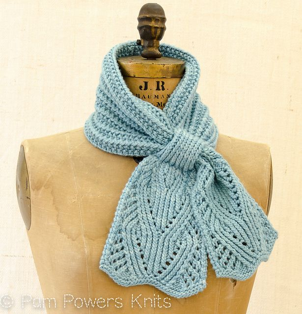 Free Crochet Pattern For Ascot Scarf : Chantilly Lace Ascot pattern by Pam Powers