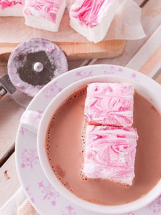 Pink Peppermint Swirl Marshmallows Recipe — Dishmaps