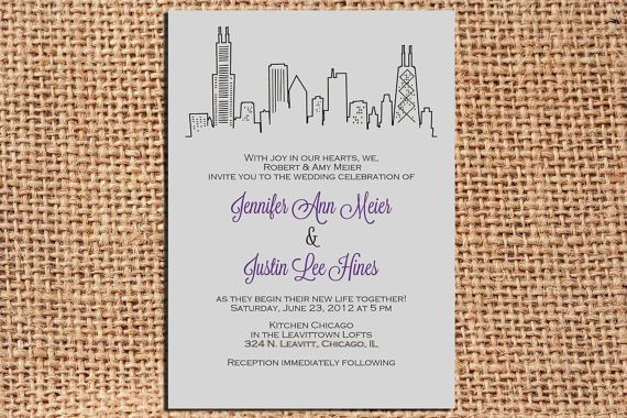 Chicago Wedding Invitations is one of our best ideas you might choose for invitation design