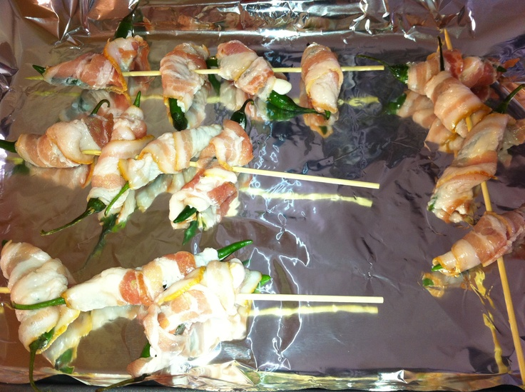 Guacamole Bacon Stuffed Pepper Poppers Recipe — Dishmaps