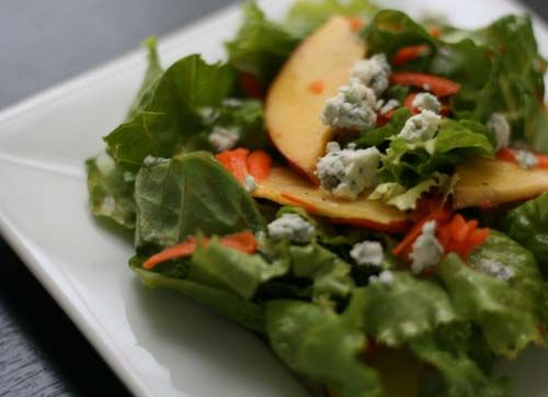 Nectarine Salad with Blue Cheese | healthy crap | Pinterest