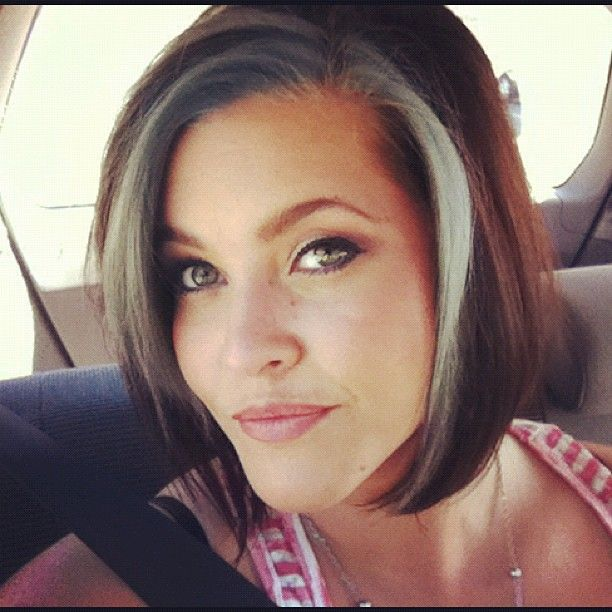Growing Out Gray Hair Transition Short Hairstyle 2013