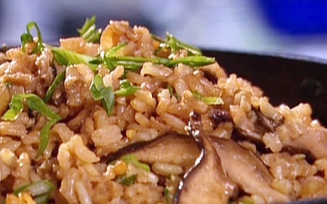 Shiitake mushroom brown rice   Yummy Recipes   Pinterest