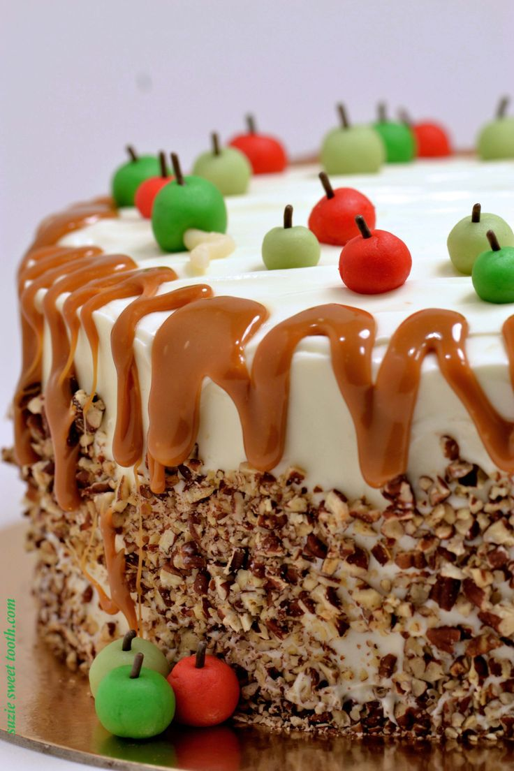 Caramel Apple Spice Cake With Cream Cheese Frosting