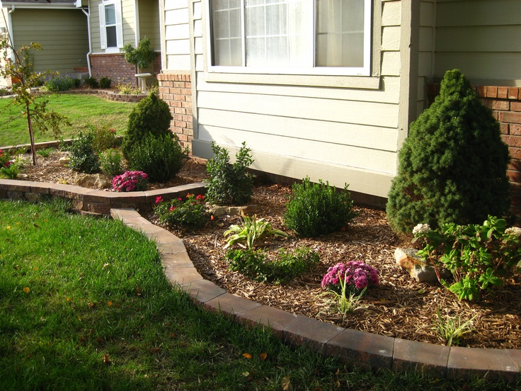 Perennial flower bed facing south 1st year fall for Flower bed wall designs