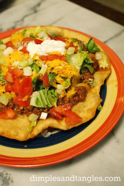 indian fry bread tacos   mmm   Pinterest