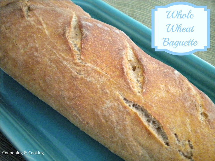 Whole Wheat Baguettes. Made 'em this morning and they're great ...