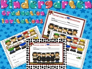 FREE 4 different-styled graduation invitations to use to invite your students' parents to graduation.....super cute! Parent will save them for years to ...