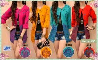 Fashion Grosir , Ecer , Dropship Online Shop: Rainbow Batik Blazer ...