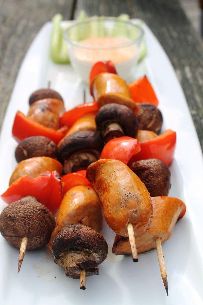 Buffalo Chicken Sausages Recipe — Dishmaps