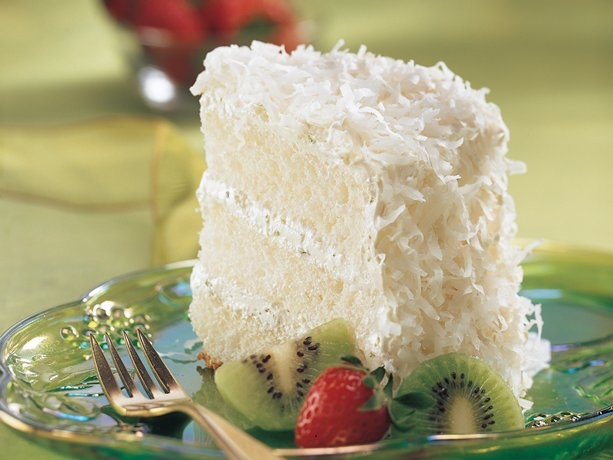 Key Lime Coconut Angel Cake (I think I will try it with a bakery angel ...