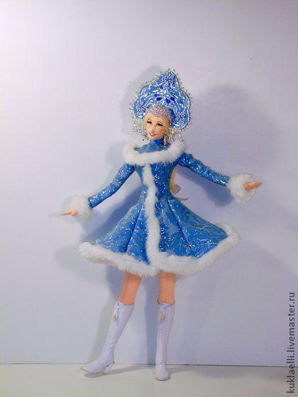 Кукла снегурочка из ткани своими руками