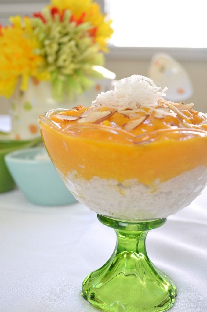 Smooth and creamy Mango Coconut Rice Pudding