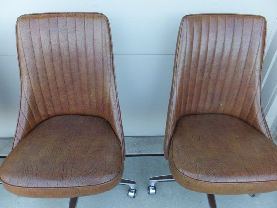 Chromcraft Dining Chairs Set Of 4 On Casters Vintage Mid Century Mode