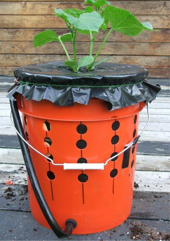 Self watering planters garden ideas pinterest - Diy self watering container garden ...