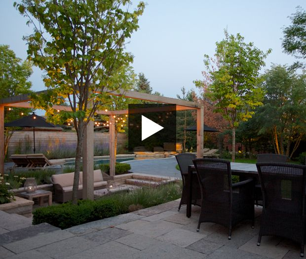 Suburban Backyard Garden :  suburban #backyard #landscaping #garden #pool #patio #firepit #lowma