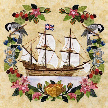 Baltimore album block. Massachusetts - Mayflower by Pearl Pereira