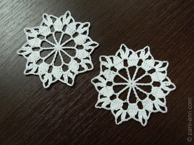 Free Crochet Snowflake Doily Pattern : Crochet snowflake free pattern Crochet Doilies ...